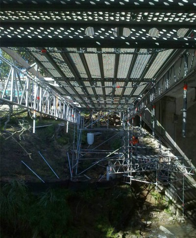 scaffolding for bridges