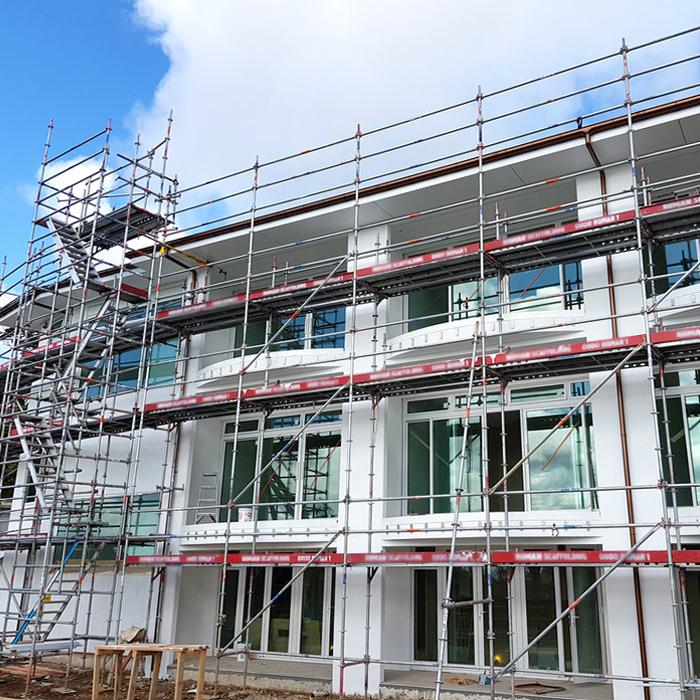scaffolding an office