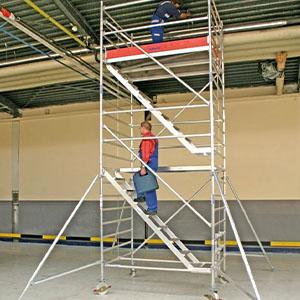 scaffolding a roof inside