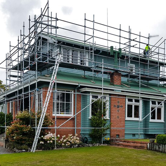 Devonport Home with scaffolding